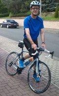 Thomas Boor auf einem Cube-Carbon-Rennrad 'agree'