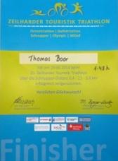 Thomas Boor nach dem Laufen, Triathlon Zeilhard